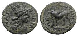 Ancient Coins - Lydia, Magnesia ad Sipylum. Pseudo-autonomous issue, time of Severus Alexander (222-235). Æ - RARE