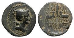 Ancient Coins - Ionia, Ephesos, c. 48-27 BC. Æ - Demetrios, Kokos and Sopatros, magistrates