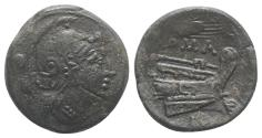 Ancient Coins - ROME REPUBLIC Grain-ear series, Sicily, c. 215-212 BC. Æ Uncia
