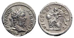 Ancient Coins - Septimius Severus (193-211). AR Denarius - Rome - R/ Victory