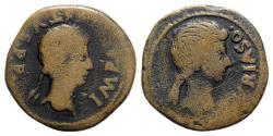 Ancient Coins - Augustus (27 BC-AD 14). Spain, Turiaso. Æ As