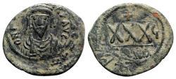 Ancient Coins - Phocas (602-610). Æ 30 Nummi - Constantinople, year 6 - VERY RARE