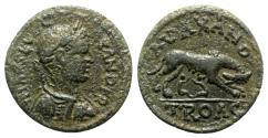 Ancient Coins - Severus Alexander (222-235). Troas, Alexandria. Æ - R/ She-wolf