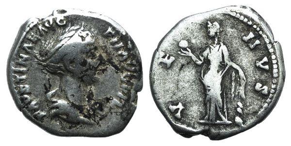 Ancient Coins - Faustina Junior (Augusta, 147-175). AR Denarius. Rome, 147-150.  R/ Venus