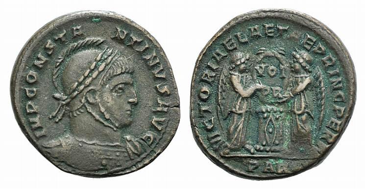 Ancient Coins - Constantine I (307/310-337). Æ Follis. Arelate, 319.