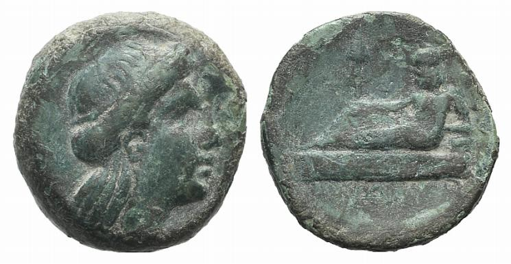Ancient Coins - Thrace, Odessos, c. 270-250 BC. Æ 17mm. R/ The Great God
