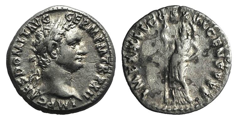 Ancient Coins - Domitian (81-96). AR Denarius. Rome, 92/3.  R/ Minerva