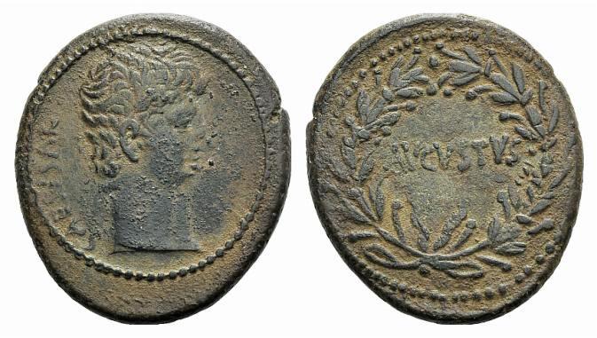 Ancient Coins - Augustus (27 BC-AD 14). Syria, Seleucis and Pieria, Antioch. AE As, c. 27-5 BC.