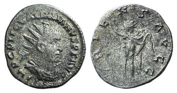 Ancient Coins - Valerian I (253-260). AR Antoninianus. Rome.  R/ Sol