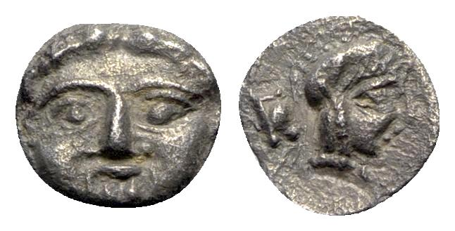 Ancient Coins - Pisidia, Selge, c. 350-300 BC. AR Obol