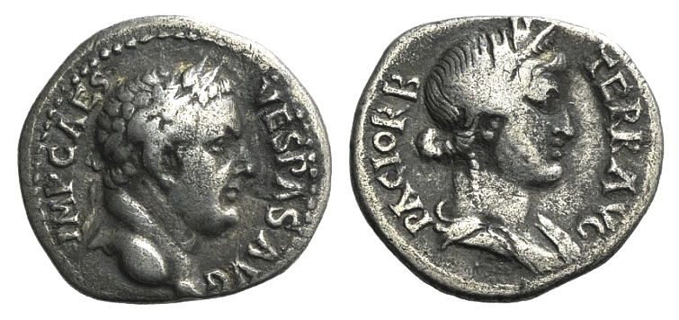 Ancient Coins - Vespasian (69-79). AR Denarius. Ephesus, 69-70.