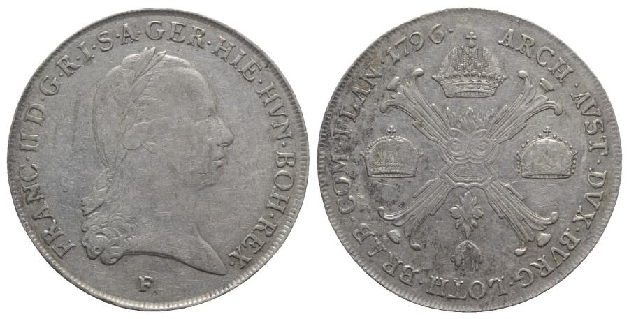 World Coins - Holy-Roman, Franz II (1792-1804). AR Kronentaler 1796, F Hall