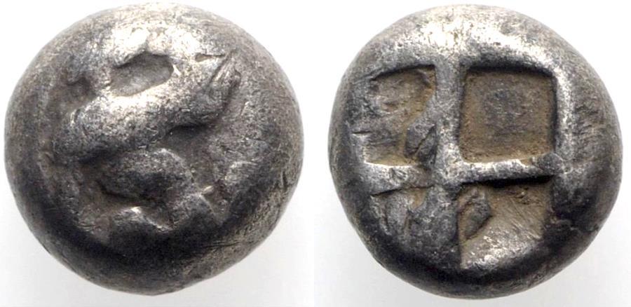 Ancient Coins - Islands of Ionia, Chios, c. 400-380 BC. AR Hemidrachm