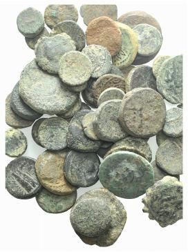 World Coins - Lot of 58 Æ Greek coins, to be catalog. LOT SOLD AS IS, NO RETURNS