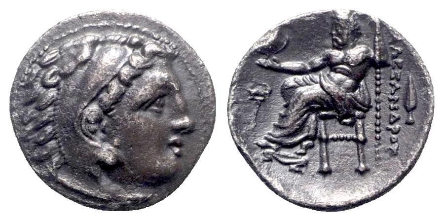 Ancient Coins - Kings of Macedon, Philip III Arrhidaios (323-317 BC). AR Drachm - Kolophon