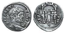 Ancient Coins - Diocletian (284-305). AR Argenteus. Barbarous imitation.