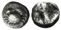 Ancient Coins - Islands of Caria, Kos, c. 500-480 BC. AR Drachm. Crab. VERY RARE