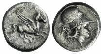 AKARNANIA, Leukas. Circa 350-320 BC. AR Stater. Hippocamp