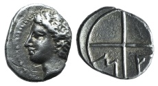 Ancient Coins - GAUL, MASSALIA, C. 200-121 BC. AR OBOL