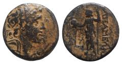 Ancient Coins - Seleukid Kings, Alexander I Balas (152-145 BC). Æ  - R/ Zeus
