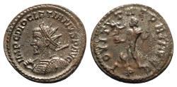 Ancient Coins - Diocletian (284-305). Radiate / Antoninianus - Lugdunum - R/ Jupiter