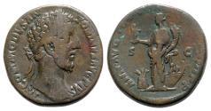 Ancient Coins - Commodus (177-192). Æ Sestertius - Rome - R/ Annona