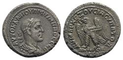 Ancient Coins - Philip I (244-249). Seleucis and Pieria, Antioch. BI Tetradrachm. AD 249. R/ EAGLE RARE