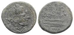 Ancient Coins - ROME REPUBLIC M. Fabrinius (?), Rome, 132 BC. Æ Quadrans