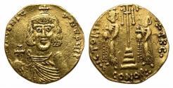 Ancient Coins - Constantine IV Pogonatus 668-685. GOLD Solidus. Syracuse, 668-673. VERY RARE