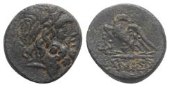 Ancient Coins - Pontos, Amisos, time of Mithradates VI, c. 85-65 BC. Æ 19mm R/ EAGLE