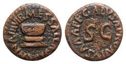 Ancient Coins - Augustus (27 BC-14 AD). Æ Quadrans - Altar / SC