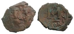 Ancient Coins - Constans II and Constantine IV (641-668). Æ 40 Nummi, year 16 (656/7). Constantinople.