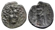 Ancient Coins - Thessaly, Proerna, late 4th-early 3rd centuries BC. Æ Dichalkon - Nymph / Demeter