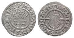 World Coins - LIVONIAN ORDER, Riga. Wolter von Plettenberg 1494-1535. Billon Schilling 1532