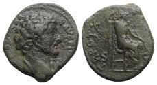 Ancient Coins - Marcus Aurelius (Caesar, 139-161). Æ As - Rome - R/ Minerva