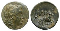 Ancient Coins - Troas, Gargara, 4th century BC. Æ - Apollo / Horse