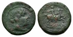 Ancient Coins - ROME REPUBLIC Anonymous. Circa 217-215 BC. Æ Semuncia. Rome mint. R / Horseman