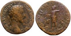 Ancient Coins - Commodus (177-192). Æ Sestertius - Rome - R/ Roma