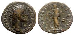 Ancient Coins - Antoninus Pius (138-161). Æ Dupondius - Rome - R/ Emperor sacrificing