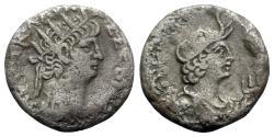 Ancient Coins - Nero (54-68). Egypt, Alexandria. BI Tetradrachm - year 12 - R/ Bust of Alexandria