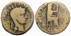 Ancient Coins - Tiberius with Julia Augusta (Livia, 14-37). Spain, Terraconensis. Æ 28mm R/ LIVIA