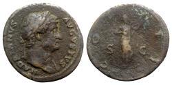 Ancient Coins - Hadrian (117-138). Æ As - Rome - R/ Salus