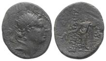 Ancient Coins - Seleukid Kings, Antiochos IV (175-164 BC). Æ 15mm. Antioch on the Kallirhoe (Edessa), c. 168-164 BC.