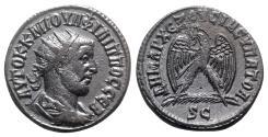 Ancient Coins - Philip I (244-249). Seleucis and Pieria, Antioch. AR Tetradrachm - R/ Eagle