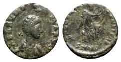 Ancient Coins - Aelia Eudoxia (Augusta, 400-404). Æ - Nicomedia - R/ Victory