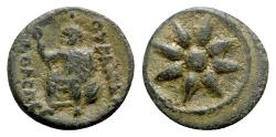 Ancient Coins - Macedon, Uranopolis, c. 300 BC. Æ - Star / Aphrodite Urania