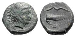 Ancient Coins - Sicily, Selinos, c. 415/2-409 BC. Æ Hexas or Hemilitron
