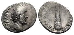 Ancient Coins - Antoninus Pius (138-161). Cappadocia, Caesarea. AR Didrachm - R/ Club