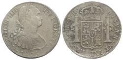 World Coins - Mexico, Carlos IV (1788-1808). AR 8 Reales 1806 TH, Mexico City