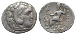 Ancient Coins - Kings of Thrace, Lysimachos (305-281) AR Drachm. In the name and types of Alexander III. Kolophon, circa 301/0-300/299 BC.